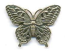 Unpainted Butterfly Button