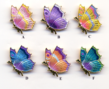 Sideview Butterfly Button
