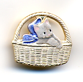 Cat in Basket button