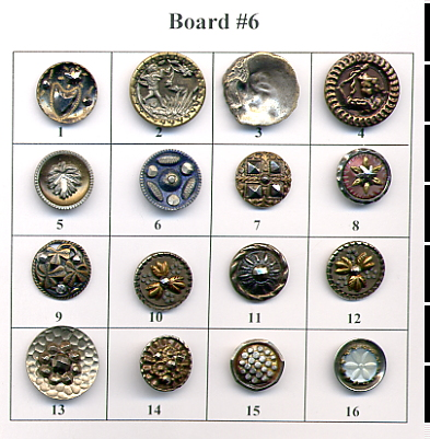 Antique Metal Buttons - Board #6