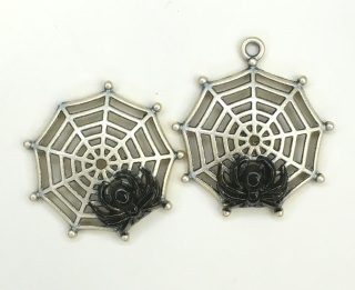 Spider in Web - White Washed Finish