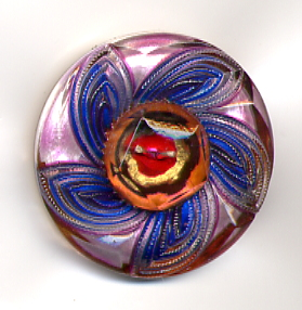 Specialty Lacy Glass Button