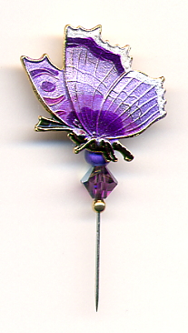 Pin-Its - Butterfly Purple