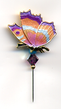 Pin-its - Butterfly Peach