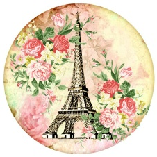 Eiffel Tower w/Flowers