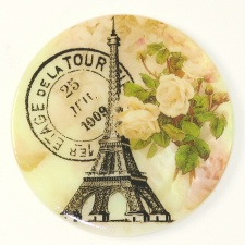 Eiffel Tower w/Postmark Yellow