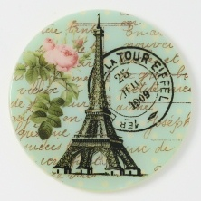 Eiffel Tower w/Postmark Teal