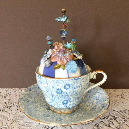 Pin-Its Chintz Cup Display - SOLD