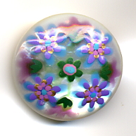 Hand Painted Pearl Button