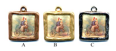 Bicycle for 2 Charm