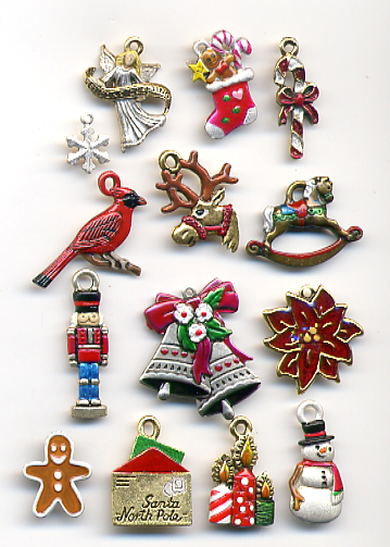 Charm pack for Christmas Wreath 2015