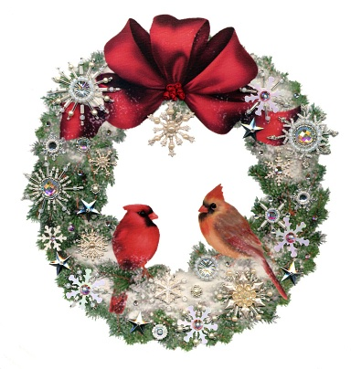 Cardinal Wreath Kit