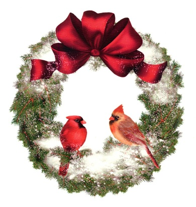 Cardinal Wreath Pattern