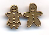 2 Gingerbread Buttons