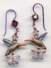 Earrings - Hummingbird