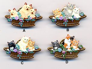 Pin - 3 Kittens in Basket